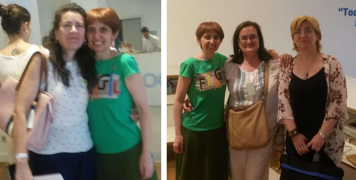 Con Carmen Moreno, Elena Escalante y Antonia Escudero en la Asamblea de Feder