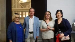 Con Jordi Cruz, delegado de Feder Cataluña y Ana Quintero, presidenta de Fecamm