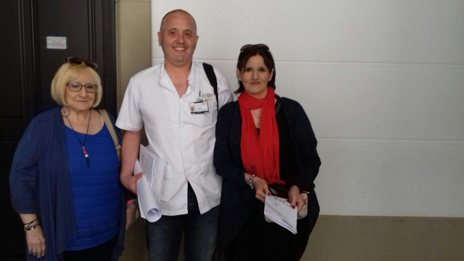 Con el Doctor Hernández del Clinic
