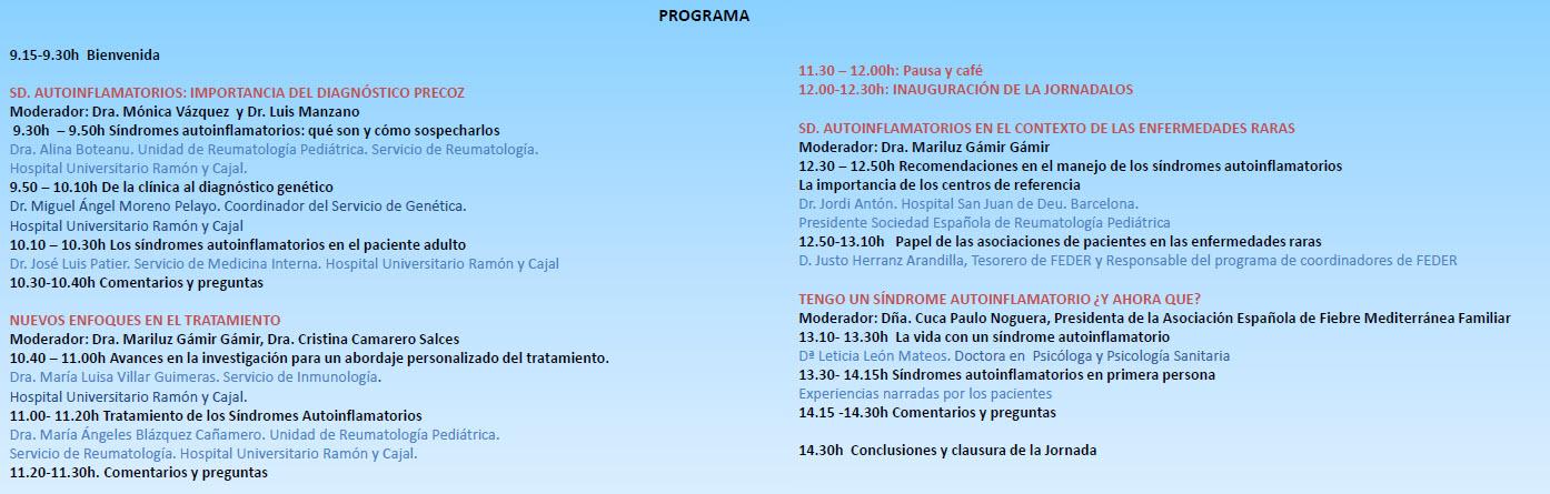 programa_ramon_y_cajal Fiebre Mediterránea Familiar
