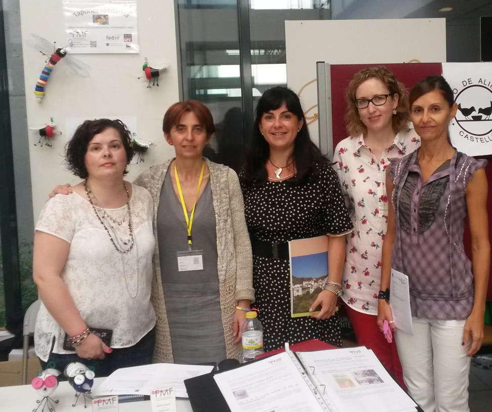 Con el personal de la Oficina de Cooperación al Desarrollo y Solidaridad de la UJI