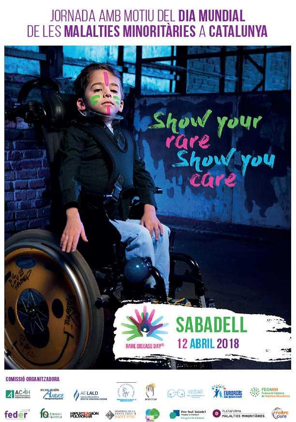 Cartel de la jornada por el día mundial de las enfermedades raras en Sabadell