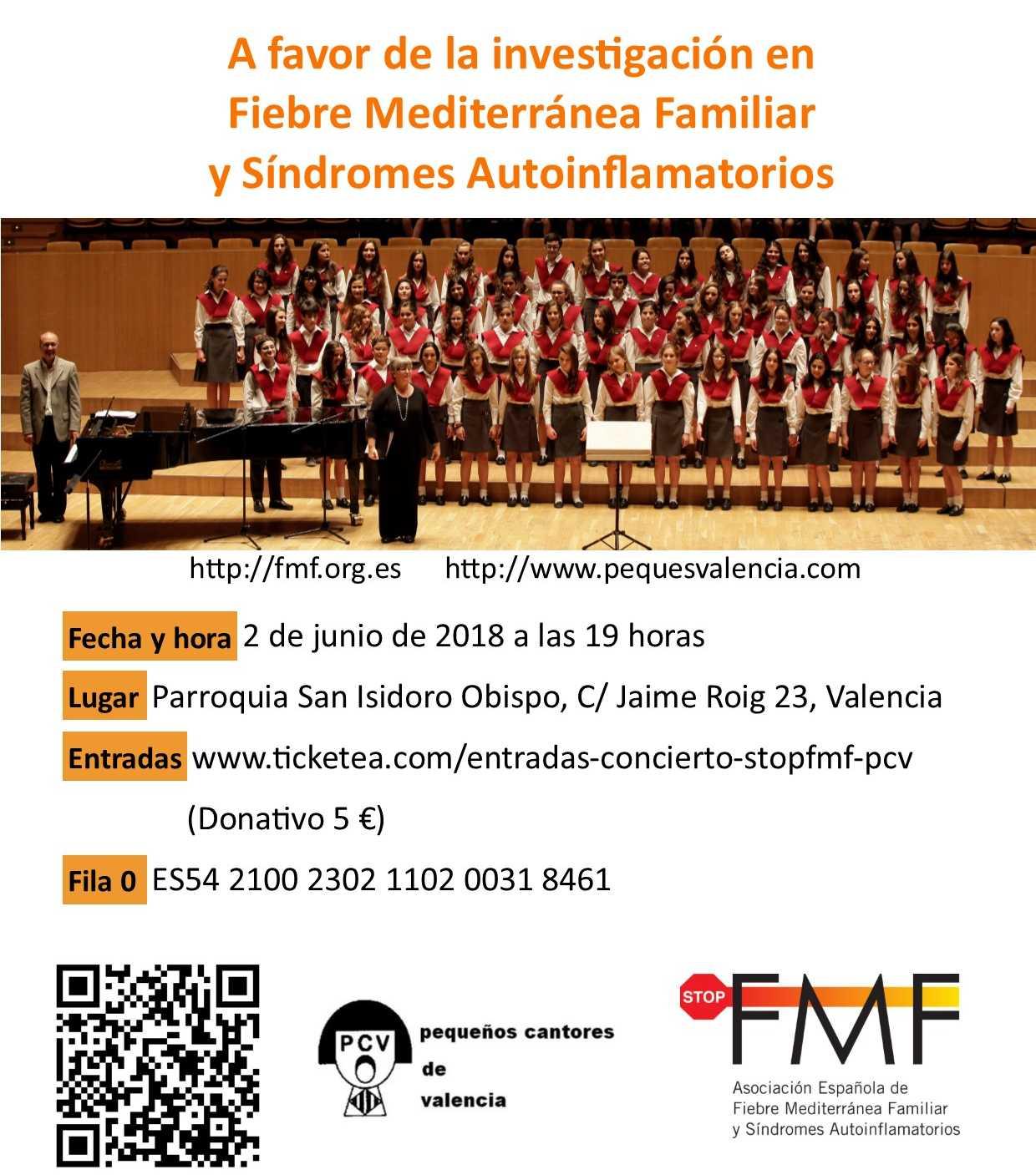 Cartel concierto solidario pequeños cantores de Valencia & Stop FMF