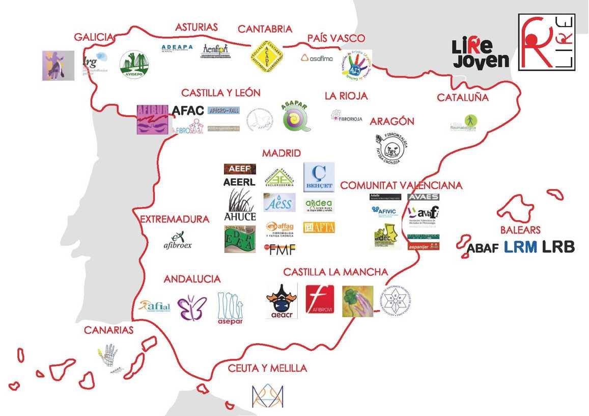mapa asociaciones lire