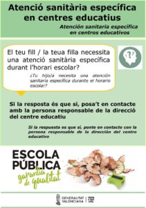 Atención sanitaria en Centros Educativos de la Comunidad Valenciana