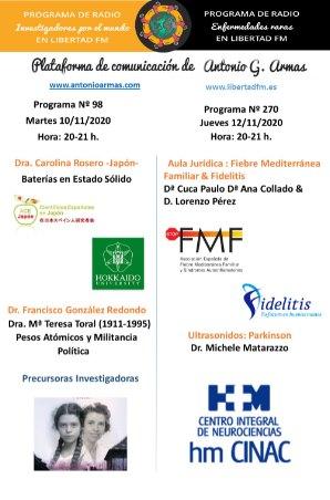 Cartel programa Antonio Armas